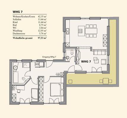 Grundriss Penthouse-Wohnung