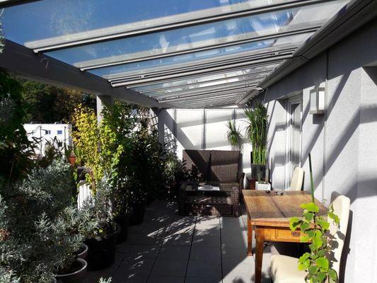 Terrasse überdachter Teil