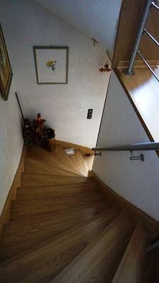 Holztreppe massiv