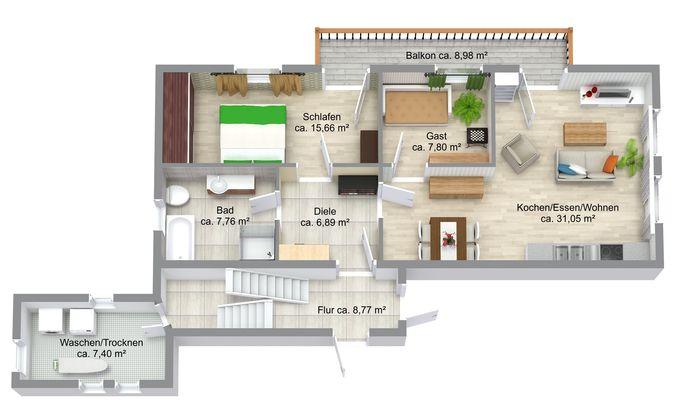Wohnung Nr. 5 Obergeschoss
