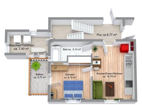 Wohnung Nr. 3 Obergeschoss