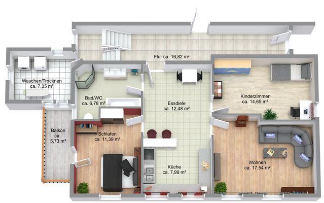 Wohnung Nr. 1 Erdgeschoss